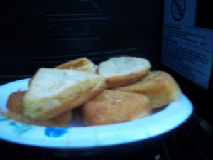 Gluten Free Cornbread while Camping - Cornbread out of wedge pan - Copyright Adrienne Z. Milligan