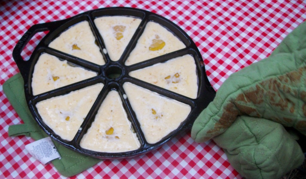 Cornbread ready to go into Camp Oven Copyright Adrienne Z. Milligan of Gluten Free Preppers